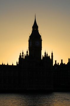 Big Ben silhouette, London