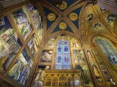 Frescos in the Baroncelli Chapel,  Church of Santa Maria del Fiore. Florence, Italy