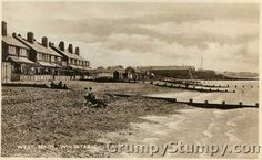 Old Postcard - West Beach, Whitstable, Kent, England