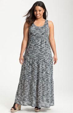 Sejour Space Dye Maxi Dress (Plus) | Nordstrom