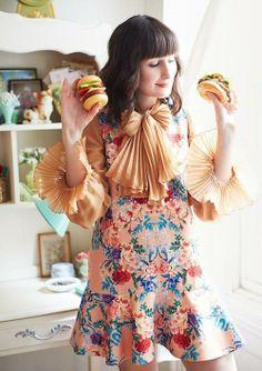 #Botanical #Dropwaist #Dress #Anthropologie  Image Via: #AnthroBlog