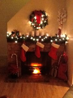 Custom fake fireplace candle @Leighann Hill   Its The Little ...