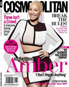 October issue: Amber Rose stars on the cover of Cosmopolitan South Africa...
