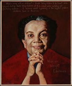 Marian Wright Edelman Portrait by Robert Shetterly