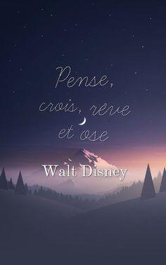 belle phrase, fond d'écran iphone, paysage naturel au ciel nocturne et étoiles, phrase Walt Disney
