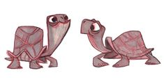art, illustration, animal, reptile, turtle, cartoon,  //