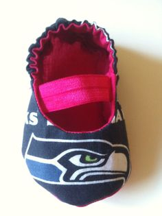 Seattle Seahawks Pink Baby Mary Jane Shoes by saluna on Etsy, $15.00