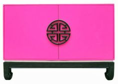 Asian Loft Cabinet End Table Pink Cabinets, Chinoiserie, My Favorite Color, All Modern, End Tables, Pretty In Pink, Pink And Green, Oriental, Design Styles