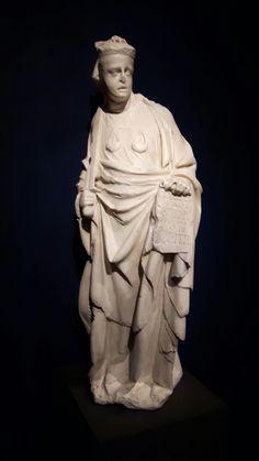 Partedel Monumento Funebre  di Margherita di Brabante.  Un tempo nell'Abside della chiesa di San Francesco in Castelletto.  Iustitia imperialis. Museo di Palazzo Spinola. Genova.