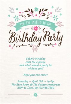Free customizable bunting printable birthday party invitations diy free printable birthday invitation templates for her stopboris Images