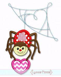 Heart Spider Applique 4x4 5x7 6x10 SVG