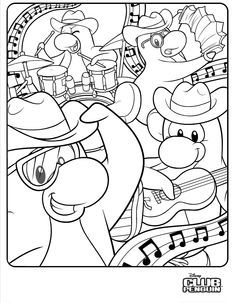 club penguin coloring pages ninja club penguin coloring pages ninja pinterest coloring club penguin and penguins - Club Penguin Coloring Pages Ninja