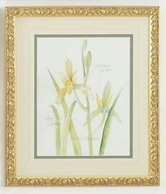 Yellow Flowers Framed Wall Art $195.00 (USD).  Product in photo is from www.wellappointedhouse.com