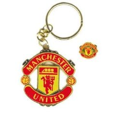 MANCHESTER UNITED FC Metal KEYRING Stadium Street Sign MUFC Man Utd Gift