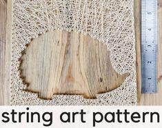 Deer Head String Art Template Pattern Crafting Design | Etsy String Art Templates, String Art Patterns, Tree Patterns, Fire Lily, New Years Tree, Wood Stain Colors, Christmas Tree Pattern, Custom Wall, Diy Flowers