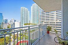 Views from a private balcony at Yacht Club at Brickell Apartments, Miami, FL Miami Fashion, Club Style, Yacht Club, Miami Florida, Bedroom Apartment, Apartments, Balcony, Miami Style, Deck