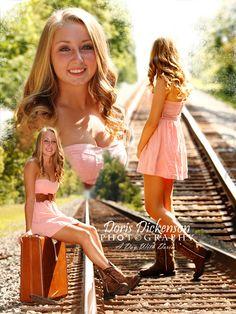 HS Senior Photos girl  Railroad Tracks Doris Dickenson Photography, Goldsboro  www.facebook.com/dorisdickensonphotography   Goldsboro NC