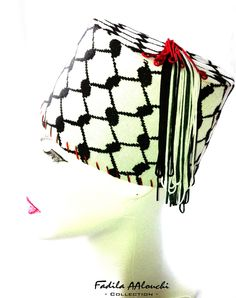 Items similar to Traditional Fez Kuffieh Fez Hat   traditional Tarbouch  Keffiyeh Hat on Etsy 2ca72209e7e