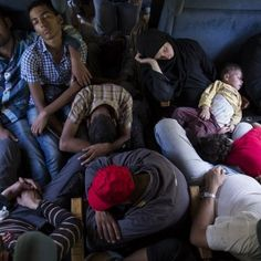 Migrant families ride a train from Gevgelija to the Serbian border in Macedonia, on Sept. Eastern Countries, European Countries, The Middle, Middle East, United Church Of Christ, Refugee Crisis, Syrian Refugees, World War Ii, Austria