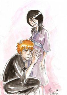 Bleach Ichigo And Rukia, Bleach Anime, Otaku, Bleach Couples, Bleach Fanart, Sword Art Online, Ghibli, Mobile Wallpaper, Fan Art