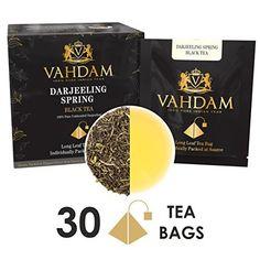 Exotic Darjeeling First Flush Tea Tea Bag (PACK OF Long Leaf Pyramid Darjeeling Tea Bags, Aromatic & Flowery, Pure Unblended First Flush Darjeeling Tea, Packed in India Darjeeling Tee, Drinking Tea, Leaves, Pure Products, Coffee, Drinks, Indian, Exotic, Packaging