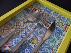 Quadro Talheres | Casa Me - Colorful Home | 34C2AB - Elo7