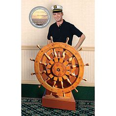 Create a nautical look with our exclusive Captain's Wheel Prop and Porthole Wall Decals.