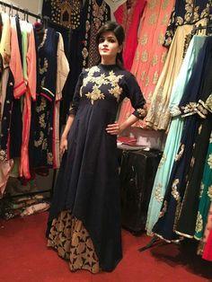 Diy lehenga kurta gown design.