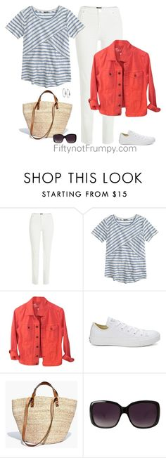 Check Your Closet by fiftynotfrumpy on Polyvore featuring J.Crew, Madewell, River Island, Converse, Michael Kors and Merona