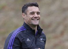 Dan Carter was all smiles as he prepares for his final Test for the All Blacks in the World Cup final