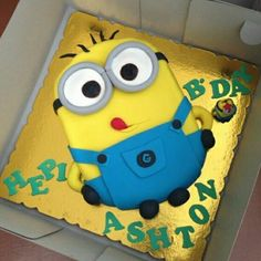 minion cake on Pinterest | Minion Birthday Parties, Despicable Me ...