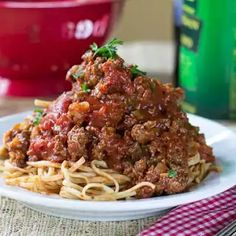 Sauce Southern Spaghetti Sauce just like my grandmother made. Super thick and meaty!Southern Spaghetti Sauce just like my grandmother made. Super thick and meaty! Sauce Recipes, Pasta Recipes, Beef Recipes, Dinner Recipes, Cooking Recipes, Kitchen Recipes, Potato Recipes, Casserole Recipes, Vegetarian Recipes