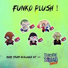 Collect Your Suicide Squad's Funko Plushes!  SuicideSquadShop.com #SuicideSquad #SuicideSquadShop