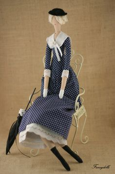 It occurs to me that Tilda dolls have approximately same shape as French bed dolls and could be good design ideas for these lanky ladies.