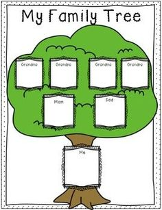 family tree template for kids geneology pinterest tree