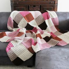 Image of Color Block Blanket in Neapolitan