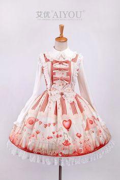 --> Newly Added: Aiyo Lolita ***Pinocchio*** JSK --> Brand: Aiyo Lolita (An indie Taobao brand) --> Learn more: http://www.my-lolita-dress.com/aiyo-lolita-minocchio-lolita-jumper-dress