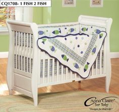 ANNA CLAIRE / ZZ BABY GONE FISHING BABY CRIB SET