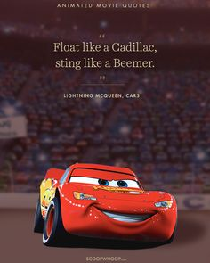 15 Animated Movies Quotes That Are Important Life Lessons car quotes for men Cars Movie Quotes, Disney Movie Quotes, Race Car Quotes, New Car Quotes, Disney Sayings, Disney Posters, Book Quotes, Quotes Quotes, Life Quotes