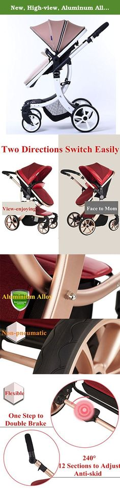 New, High-view, Aluminum Alloy, Bidirectional, Detachable, Suspension and Folding Strollers, Pram, Pushchair, for Baby to Sit or Lie down (Khaki with White Tube). If you buy now, we will have 5 free gifts for you: Rain Cover X1, Mosquito Net X1, Foot Muff for Winter Protection X1, Summer Mat X1, Cotton Cushion X1. The gifts are limited, Please hurry up! 1:One button to automatic slid-folding. 2:Aluminium alloy material is light with high-quality, and it is antioxidative & hard. 3:Our…