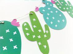 Guirnalda imprimible de cactus para decorar fiesta