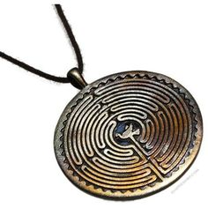 Labyrinth Iridescent Pendant with Dove Necklace on Sale for $49.95 at... ❤ liked on Polyvore featuring jewelry, necklaces, pendant jewelry and iridescent jewelry