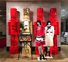 """NORDSTROM, Seattle, Washington, """"The Nut Crackers"""", instore, for Gucci, pinned by Ton van der Veer"""
