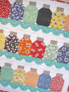 Canning Season Kit! Pattern by Lori Holt of Bee in my Bonnet. Complete kits to make this adorable wall hanging just like ours is available at www.hollyhillquiltshoppe.com while they last!