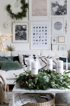Christmas Interiors, Christmas Home, Christmas Wreaths, Christmas Decorations, Love Decorations, Advent Candles, Advent Wreath, Christmas Tablescapes, Diy Interior
