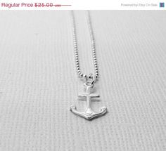 Mothers Day Sale Anchor Necklace Sterling by GirlBurkeStudios, $22.50