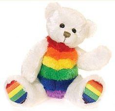 51a46e60df9 Rainbow Beanie Bear Stuffed Toy - RainbowDepot -Rainbow Depot Love Rainbow