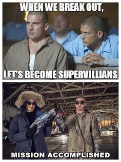 #WentworthMiller #DominicPurcell Mission Accomplished!