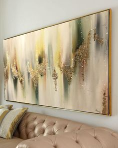 Large Abstract Oil Painting Wall Art Gold Painting Wall Decor Modern Art Original Painting with Gold leaf Abstract Painting by Julia Kotenko by JuliaKotenkoArt on Etsy