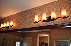 Bronze Bathroom Light Fixtures for an ideal metal finish Bronze Bathroom Light Fixtures, Living Room Light Fixtures, Living Room Lighting, Bathroom Lighting, Metal Finishes, Candle Sconces, Farms, Wall Lights, Home Decor